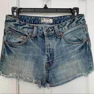 Free People button fly Jean cut off shorts